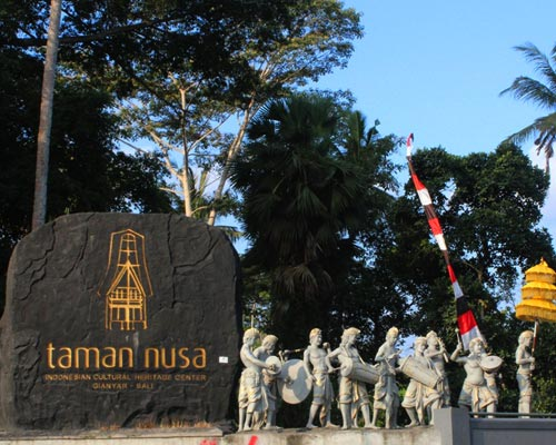 taman nusa park indonesia culture